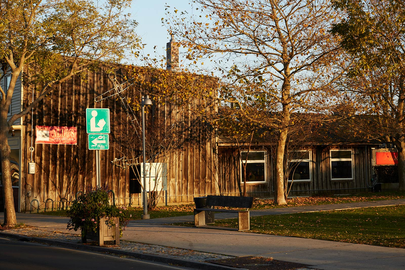 Greenport village rusted building