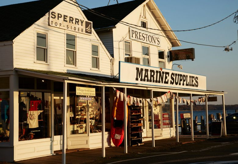 A row of shops in Greenport Village