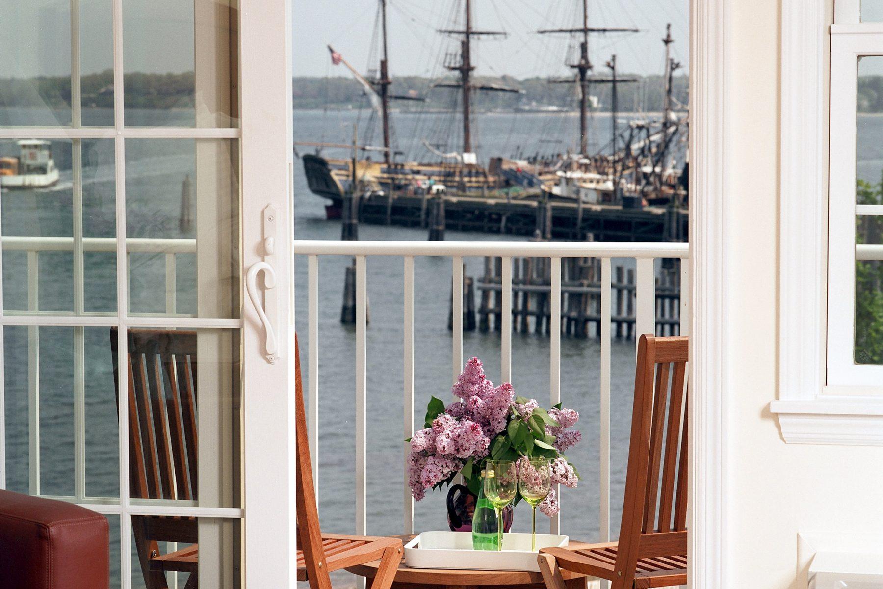 Balcony view overlooking Peconic Bay